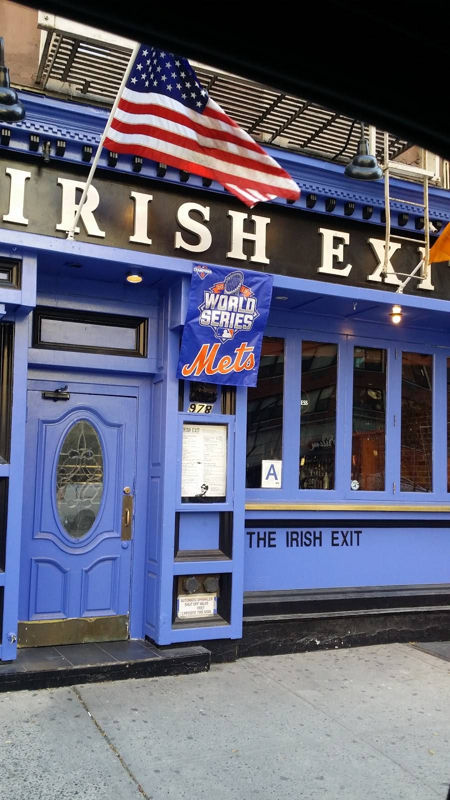 The Irish Exit | restaurant | 978 2nd Ave, New York, NY 10022, USA | 2127558383 OR +1 212-755-8383