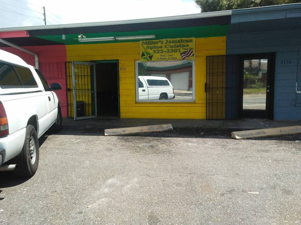 Millers Jamaican Spice Cuisine | restaurant | 3114 5th Ave S, St. Petersburg, FL 33712, USA | 7273222301 OR +1 727-322-2301