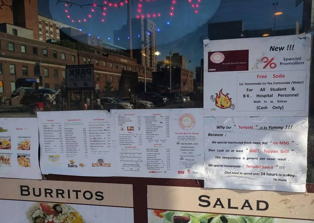 Teriyaki Burrito House | restaurant | 96a, Dekalb Ave, Brooklyn, NY 11201, USA | 7187224771 OR +1 718-722-4771