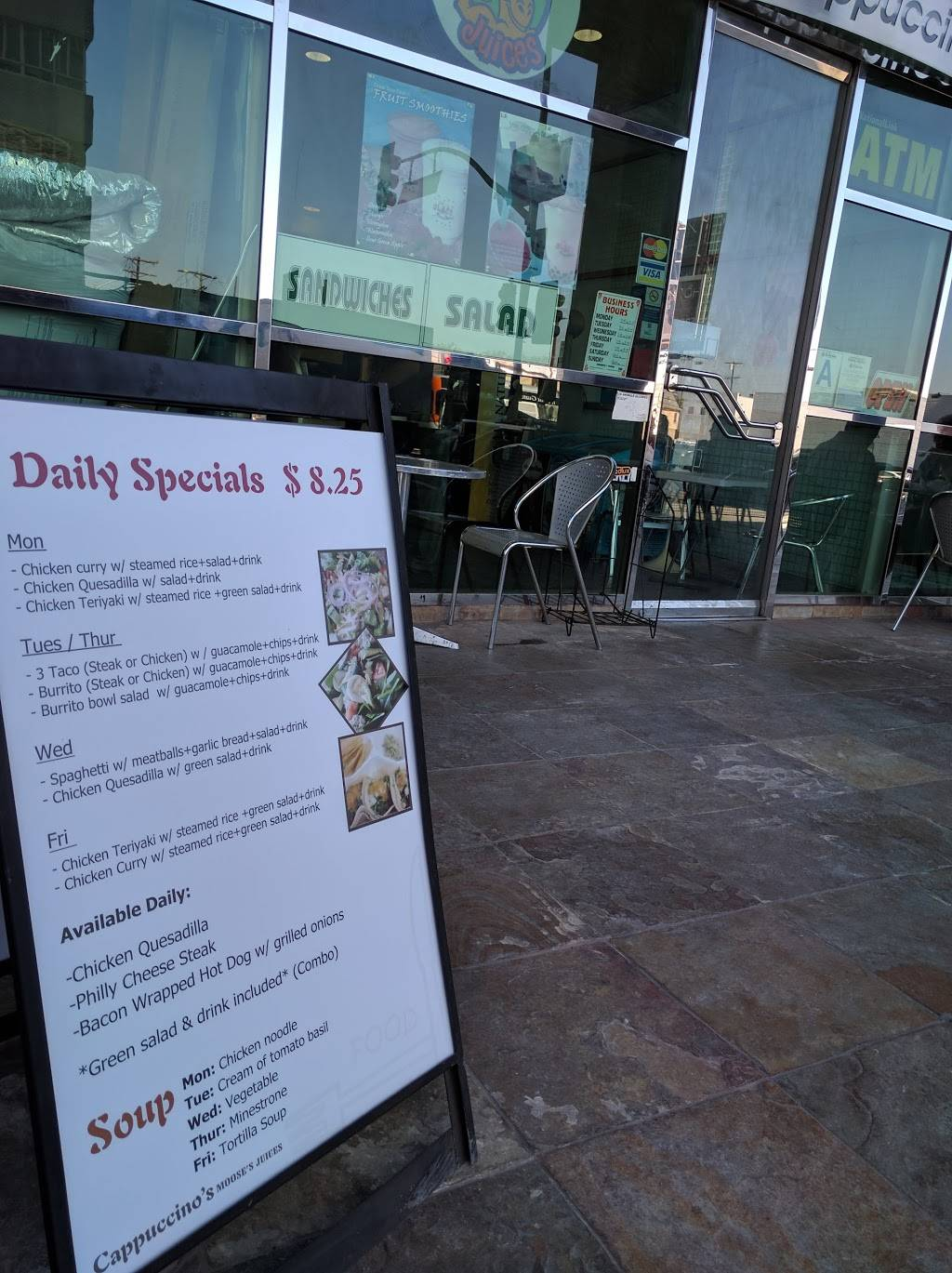 Cappuccinos   restaurant   6380 Wilshire Blvd # 130, Los Angeles, CA 90048, USA   3236556583 OR +1 323-655-6583