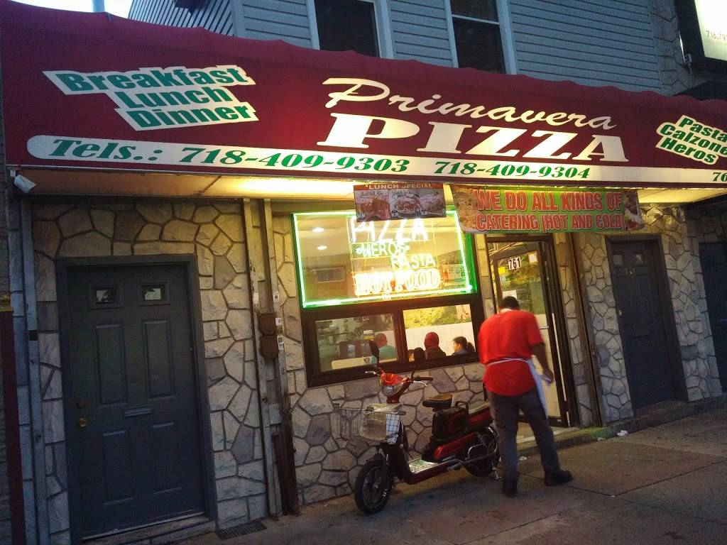 Primavera Pizza | restaurant | 761 Morris Park Ave, Bronx, NY 10462, USA | 7184099303 OR +1 718-409-9303