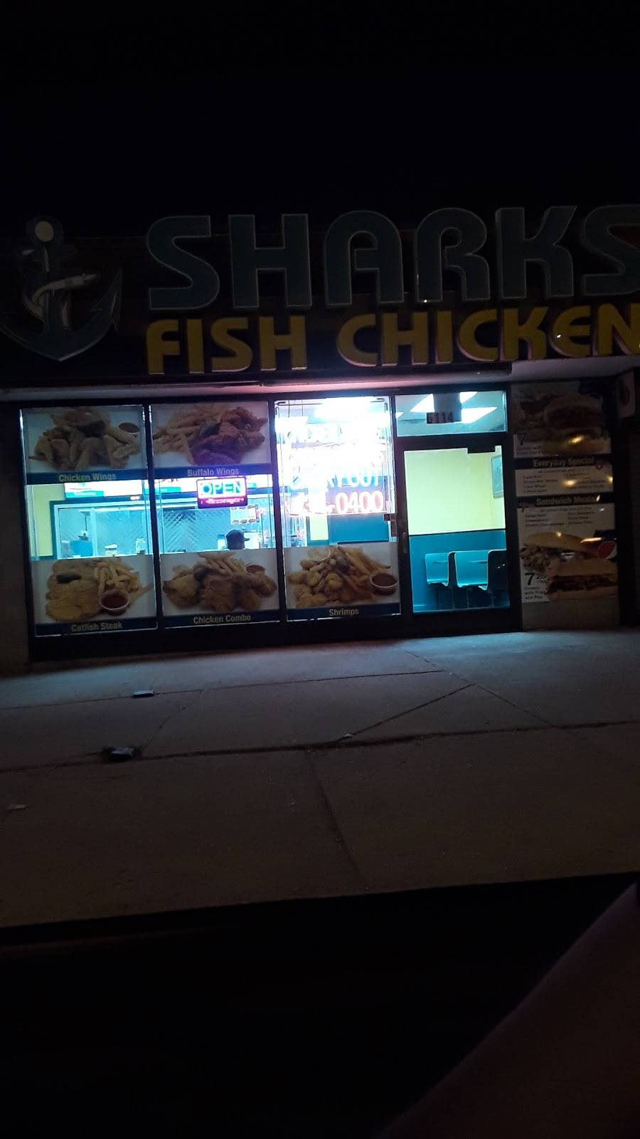 Sharks Fish & Chicken   meal takeaway   6114 S Western Ave, Chicago, IL 60636, USA   7734340400 OR +1 773-434-0400