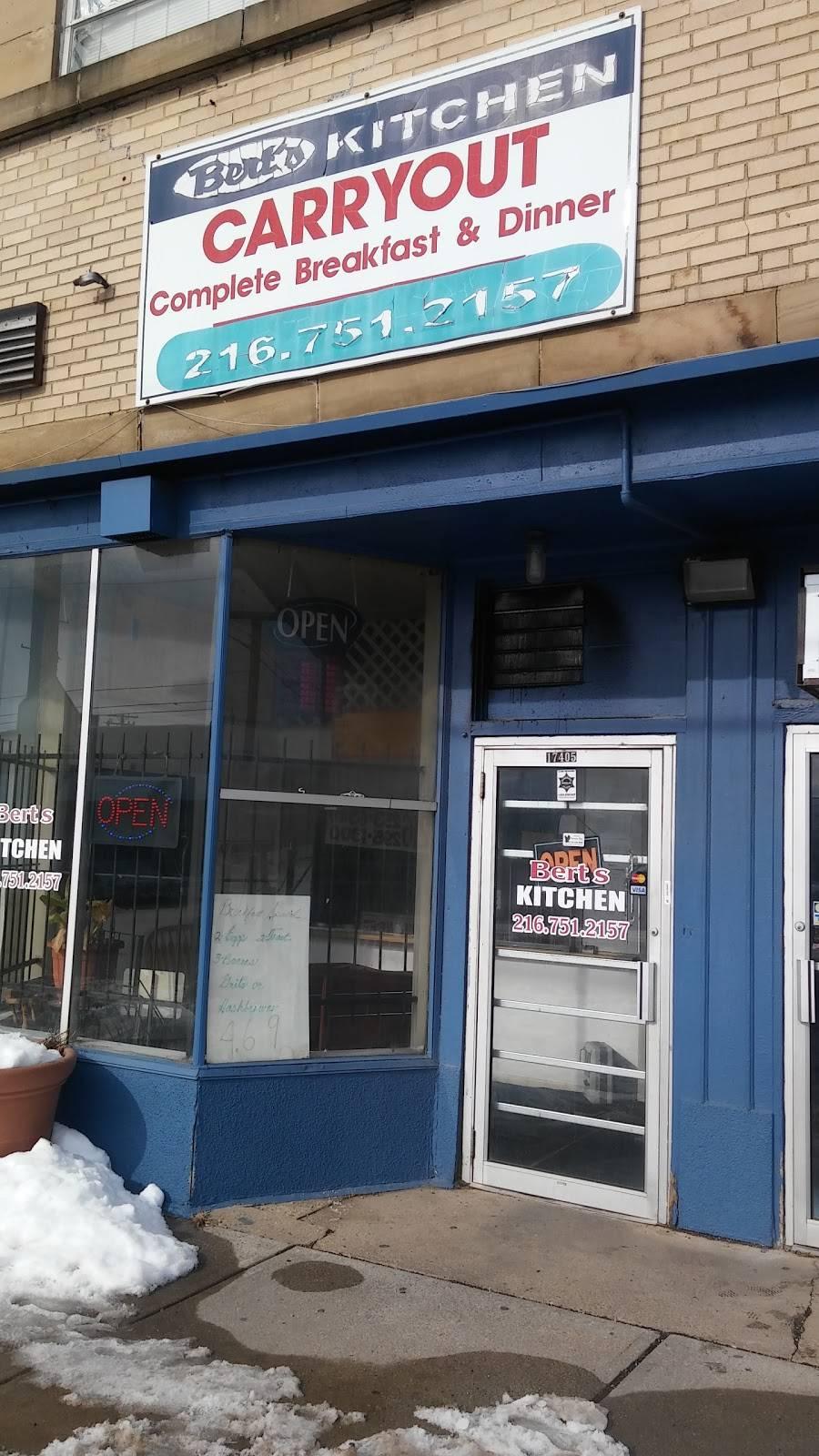 Berts Kitchen   restaurant   17405 Harvard Ave, Cleveland, OH 44128, USA   2167512157 OR +1 216-751-2157