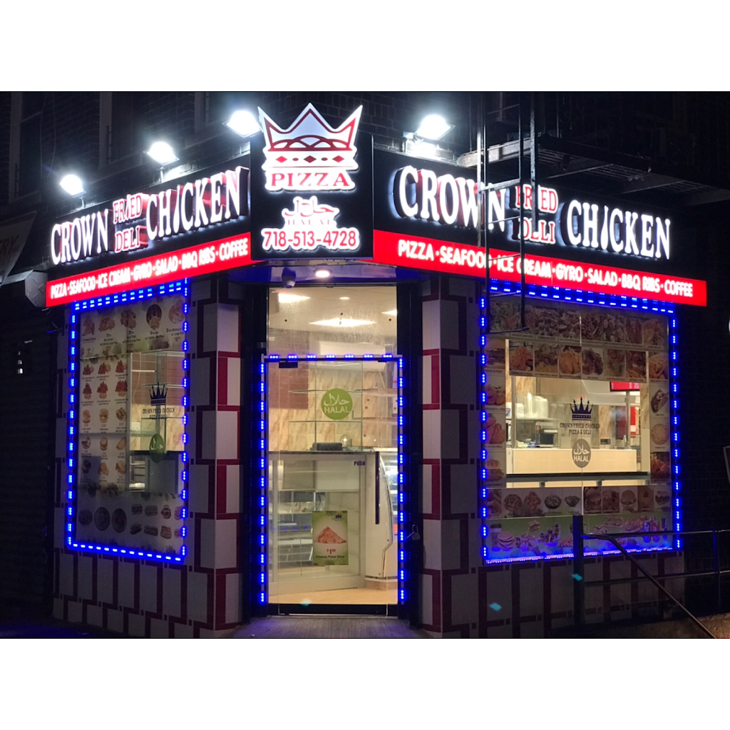 Crown chicken & deli inc.   restaurant   2718 Pitkin Ave, Brooklyn, NY 11208, USA   7185134728 OR +1 718-513-4728