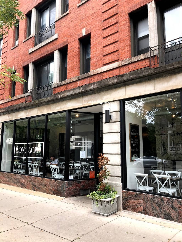 Longacre Chicago   restaurant   Pizza Box 1309 West Wilson Avenue, Dining Room & Garden 1303 West Wilson Avenue, Chicago, IL 60640, USA   7732937413 OR +1 773-293-7413