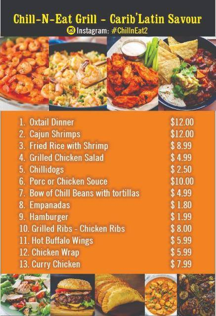 Chill-N-Eat grill - CaribLatin Savour | restaurant | 2230 NW 62nd St, Miami, FL 33147, USA | 5612852819 OR +1 561-285-2819