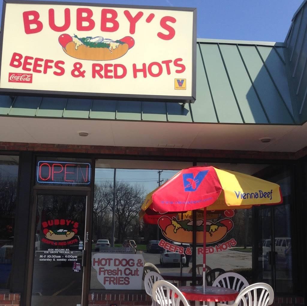 Bubbys Beefs & Red Hots | restaurant | 1026 E Higgins Rd, Elk Grove Village, IL 60007, USA | 8473570079 OR +1 847-357-0079