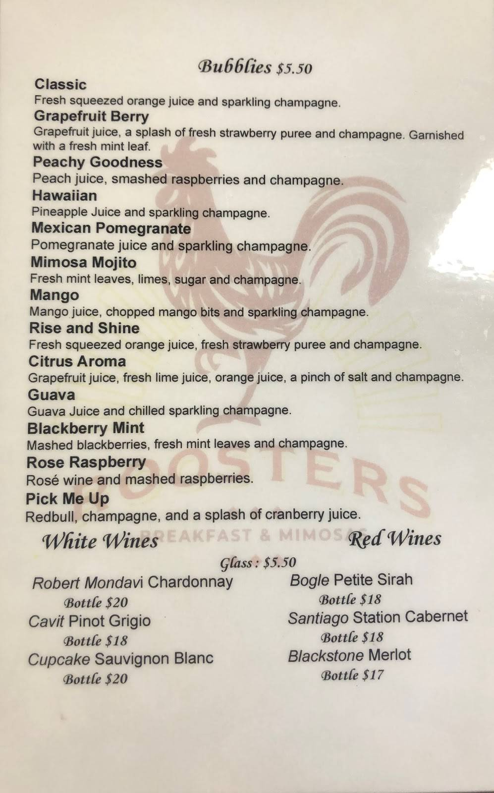 Roosters Breakfast and Mimosas | restaurant | 5493 Carlson Dr STE D, Sacramento, CA 95819, USA | 9165947281 OR +1 916-594-7281
