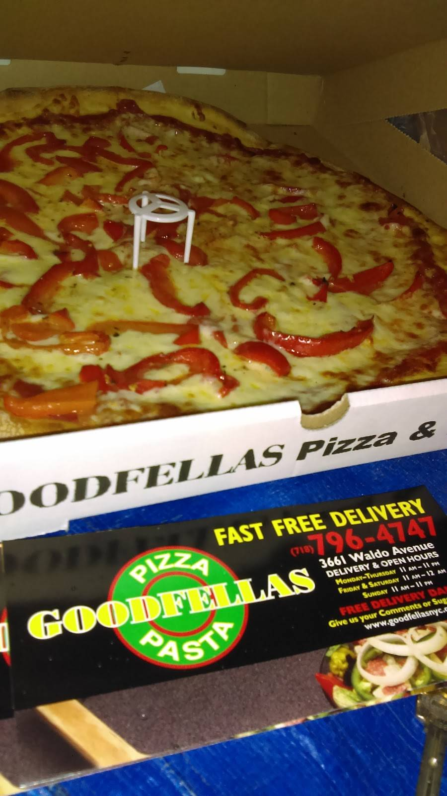 Goodfellas | meal delivery | 3661 Waldo Ave, Bronx, NY 10463, USA | 7187964747 OR +1 718-796-4747