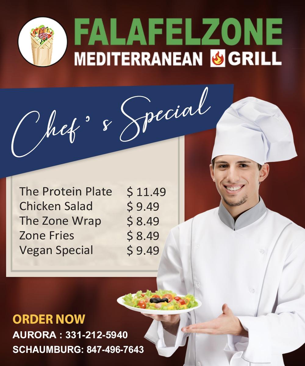 Falafel Zone   restaurant   1606 E Algonquin Rd, Schaumburg, IL 60173, USA   8474967643 OR +1 847-496-7643