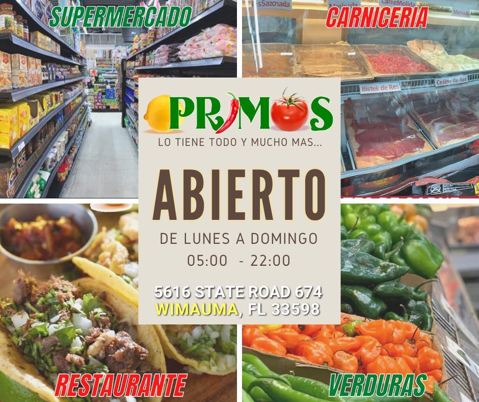 Restaurante Primos Wimauma | meal delivery | 5616 state road 674, Wimauma, FL 33598, USA | 18136339458 OR +1 181-363-39458