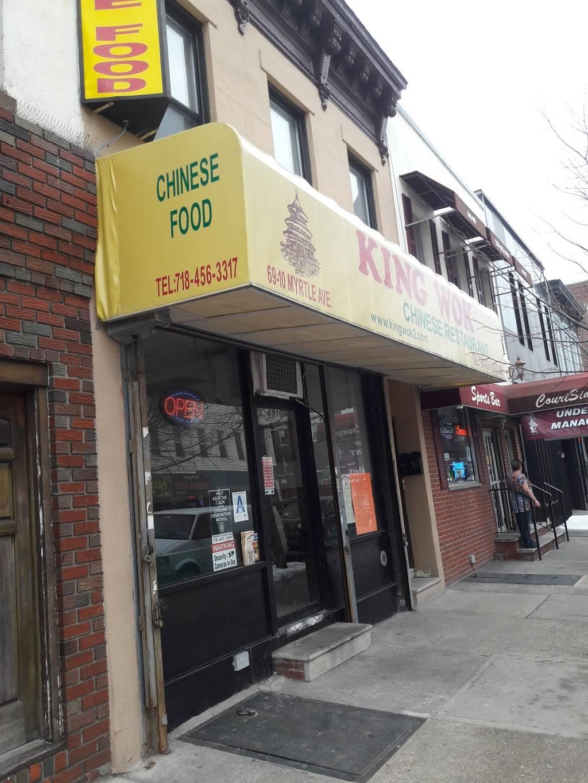 King Wok | restaurant | 69-10 Myrtle Ave, Flushing, NY 11385, USA | 7184563317 OR +1 718-456-3317
