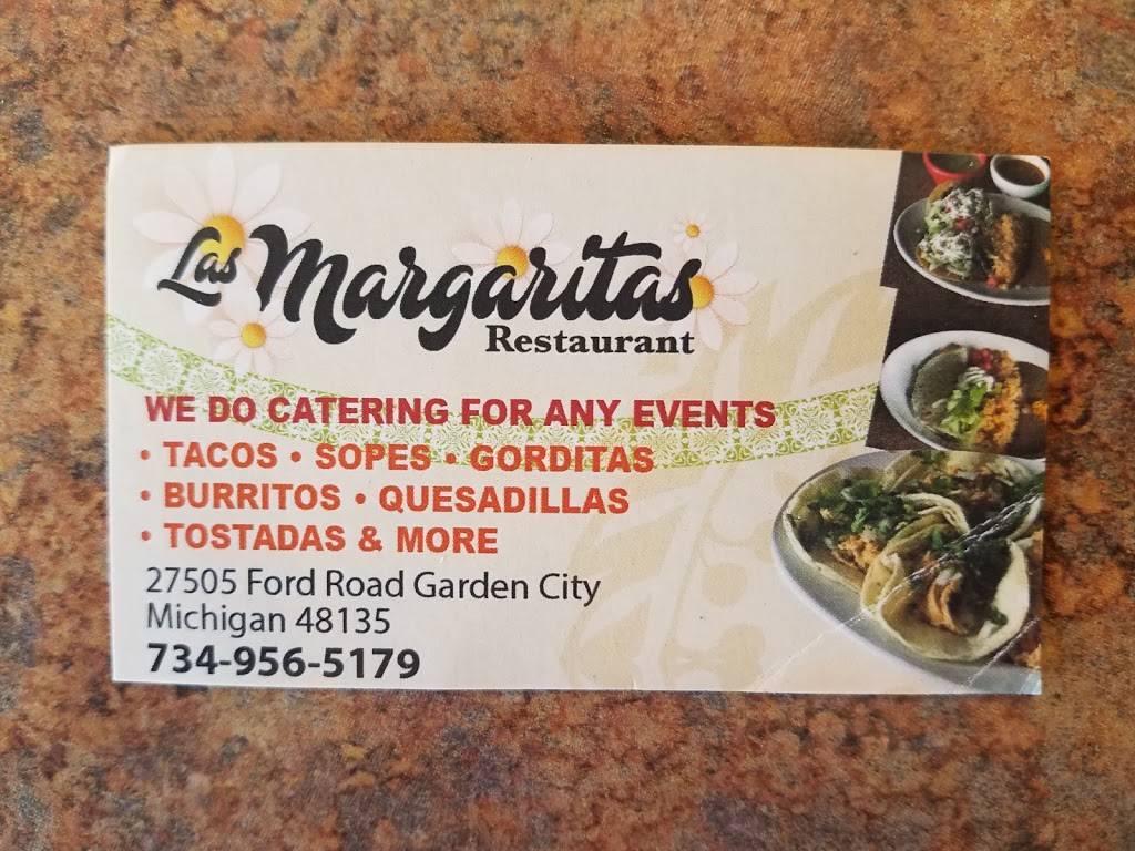 Las Margaritas Mexican Restaurant   restaurant   27505 Ford Rd, Garden City, MI 48135, USA   7345626237 OR +1 734-562-6237