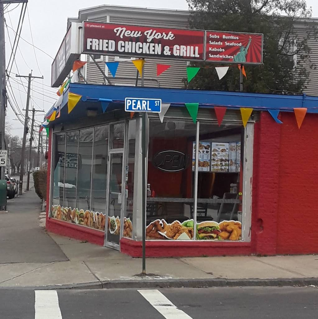 New York Fried Chicken & Grill   restaurant   23 Pleasant St, Leominster, MA 01453, USA   9787284432 OR +1 978-728-4432