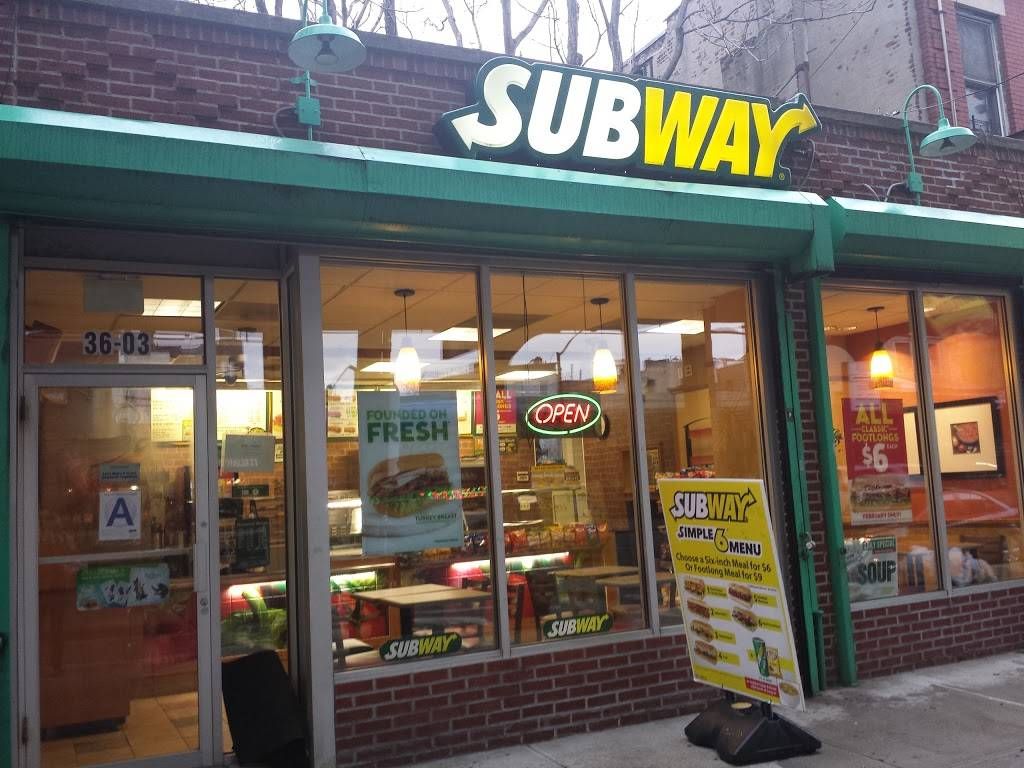 Subway Restaurants | restaurant | 36-03/05 31st St, Long Island City, NY 11106, USA | 7183615277 OR +1 718-361-5277