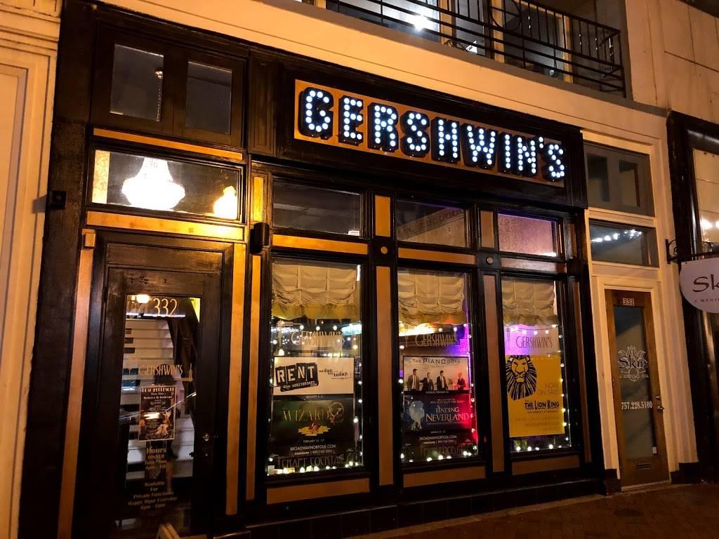 Gershwins | restaurant | 332 Granby St, Norfolk, VA 23510, USA | 7572260814 OR +1 757-226-0814
