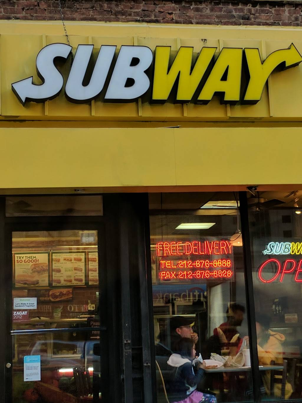 Subway Restaurants | restaurant | 1392 Madison Ave, New York, NY 10129, USA | 2128768888 OR +1 212-876-8888