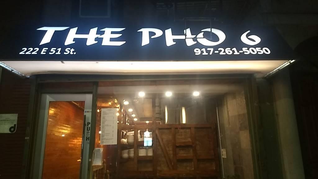 The Pho 6 | restaurant | 222 E 51st St, New York, NY 10022, USA | 9172615050 OR +1 917-261-5050