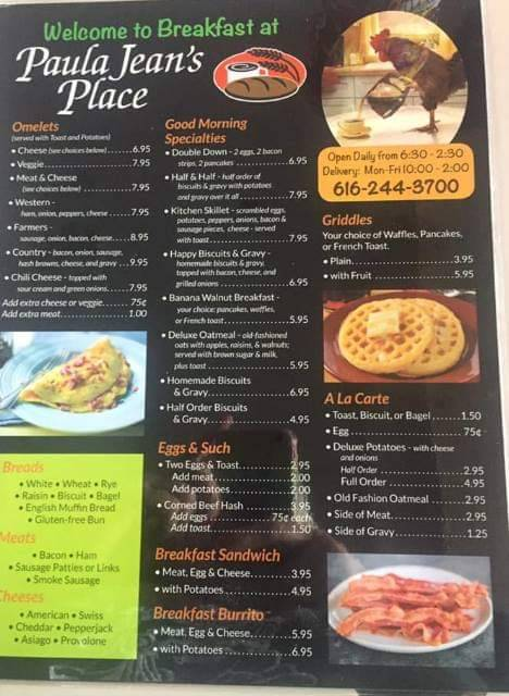 Paula Jeans Place | restaurant | 215 E State St, Belding, MI 48809, USA | 6162443700 OR +1 616-244-3700