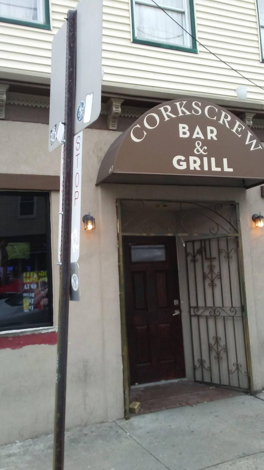 Corkscrew Bar | restaurant | 61 Congress St, Jersey City, NJ 07307, USA | 2012390087 OR +1 201-239-0087