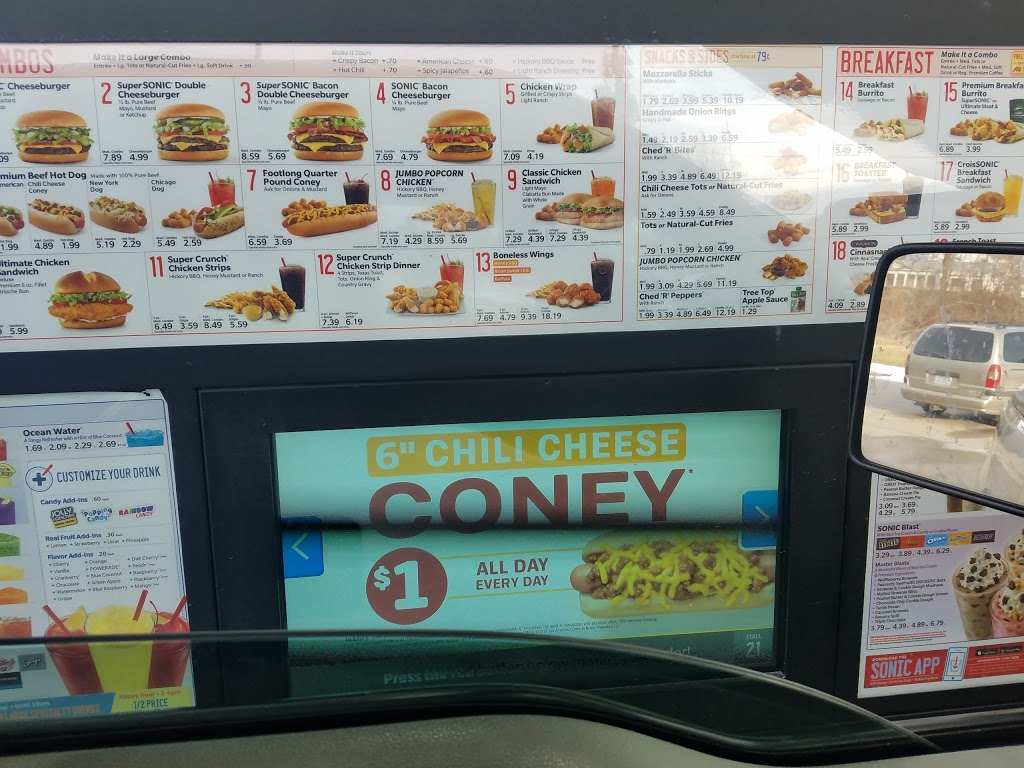 Sonic Drive-In | restaurant | 814 Harvest Hills Dr, Carrollton, MO 64633, USA | 6605423500 OR +1 660-542-3500