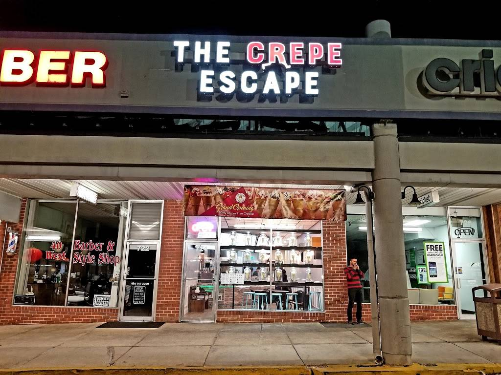 The Crepe Escape And Creamery | restaurant | 724 N Rolling Rd, Catonsville, MD 21228, USA | 4107882100 OR +1 410-788-2100