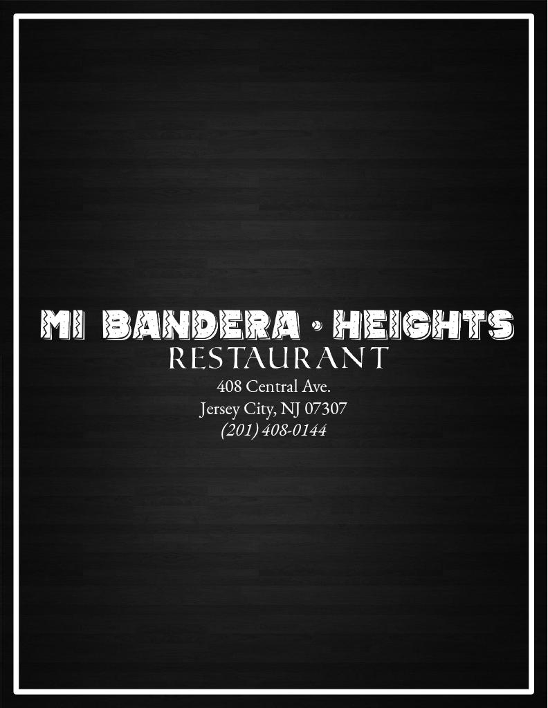 Mi Bandera Heights Restaurant   restaurant   408 Central Ave, Jersey City, NJ 07307, USA   2014080144 OR +1 201-408-0144