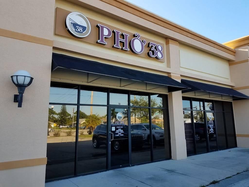 Pho 38   restaurant   601 Del Prado Blvd N #10, Cape Coral, FL 33909, USA   2398290343 OR +1 239-829-0343