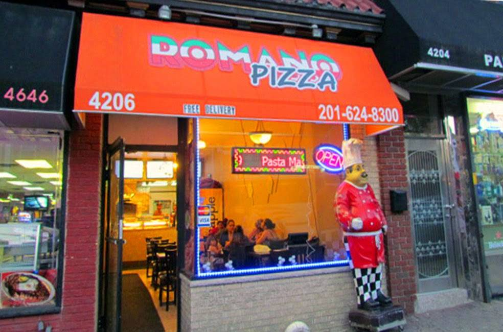 Romano Pizza | meal delivery | 4206 Park Ave, Weehawken, NJ 07086, USA | 2016248300 OR +1 201-624-8300