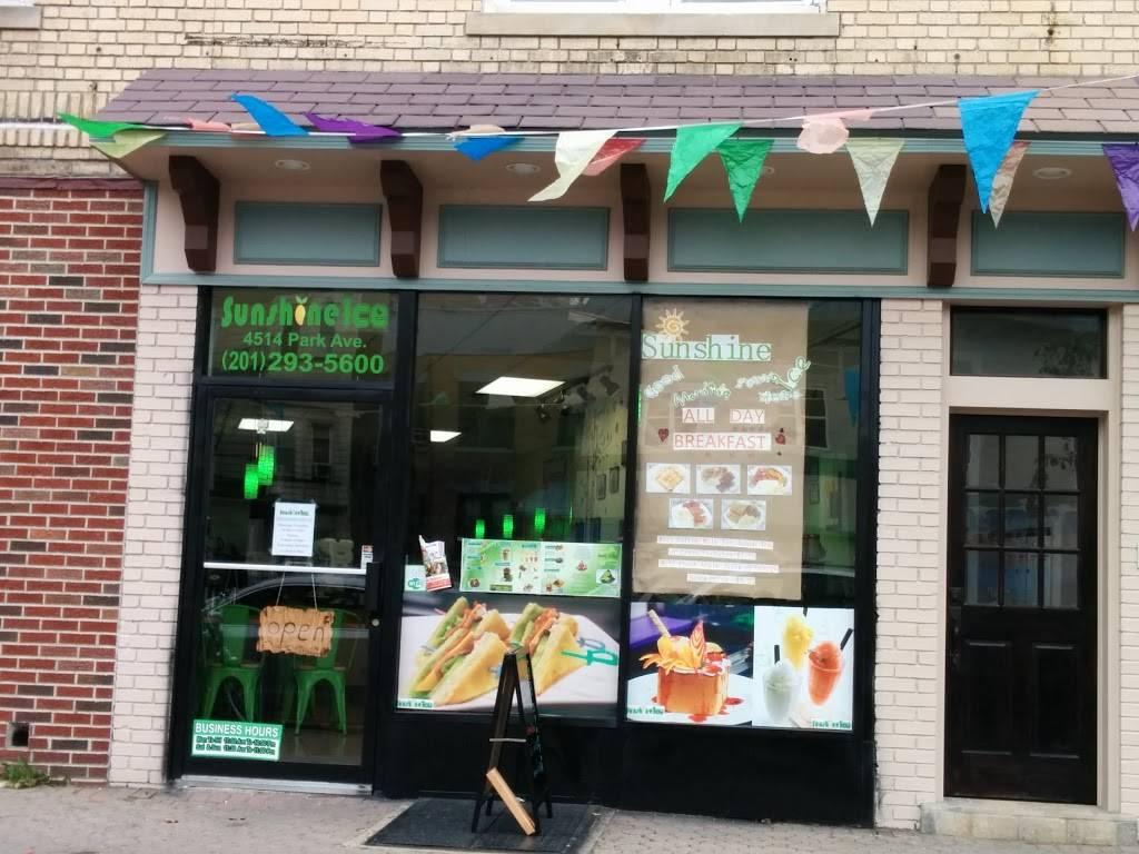Sunshine Ice | cafe | 4514 Park Ave, Weehawken, NJ 07086, USA | 2012935600 OR +1 201-293-5600