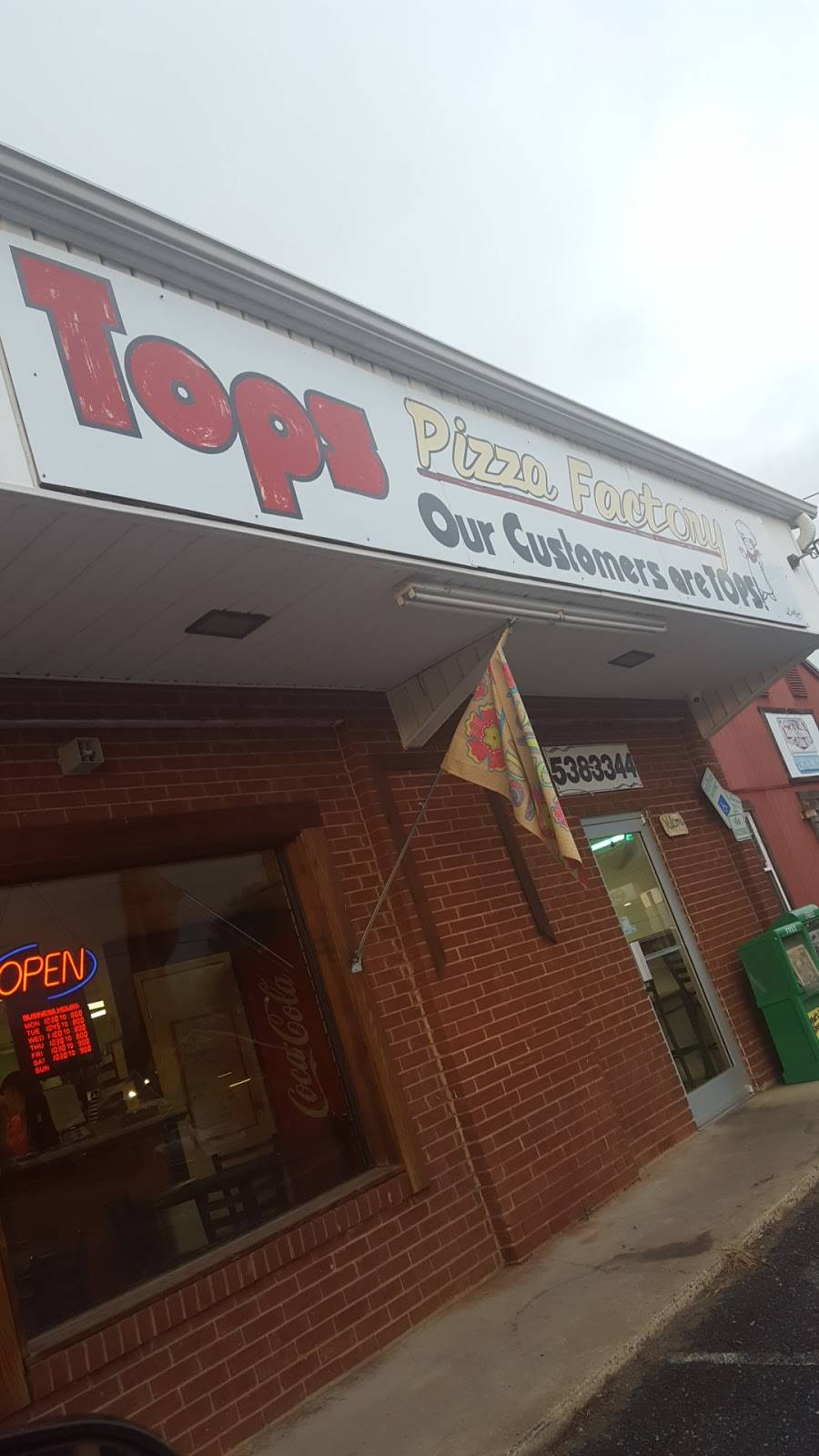 Tops Pizza Factory Restaurant 4835 Fallston Rd Lawndale