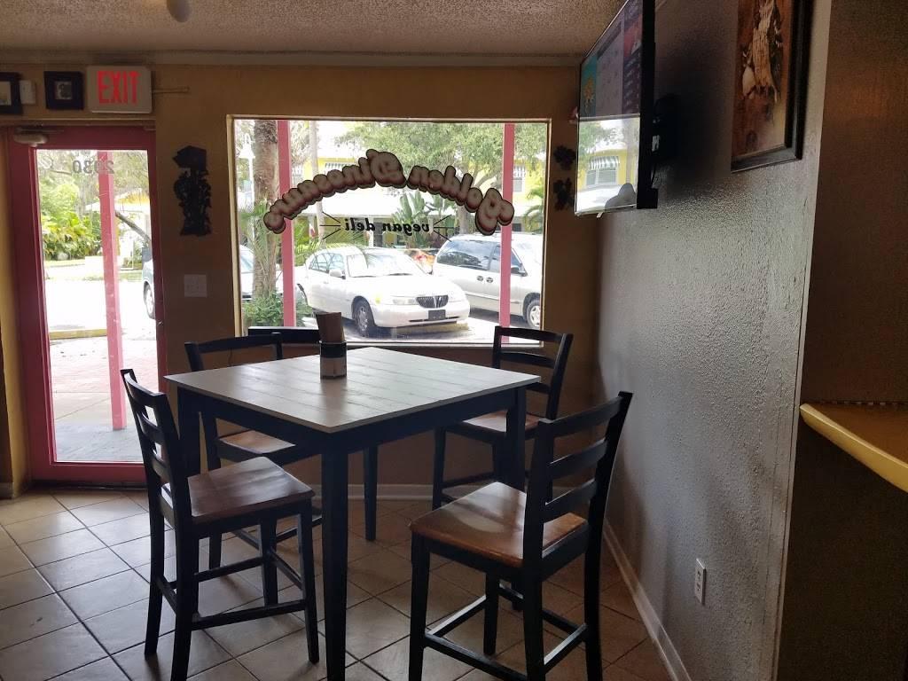 Golden Dinosaurs Vegan Deli   restaurant   2930 Beach Blvd S, Gulfport, FL 33707, USA   7278736901 OR +1 727-873-6901
