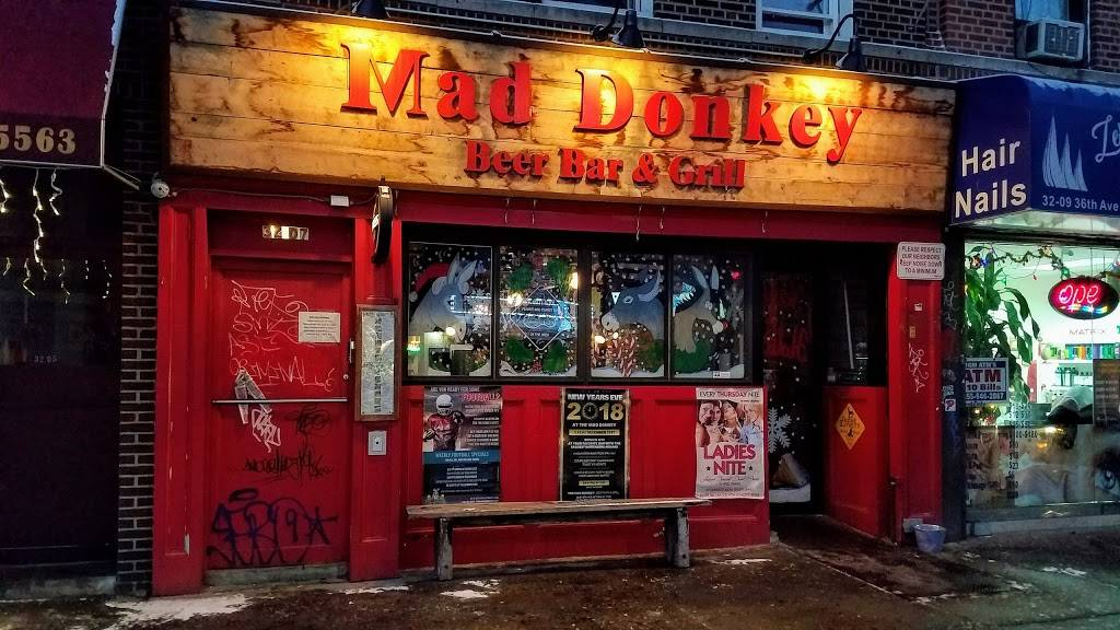 Mad Donkey Beer Bar & Grill | night club | 32-07 36th Ave, Astoria, NY 11106, USA | 7182042070 OR +1 718-204-2070