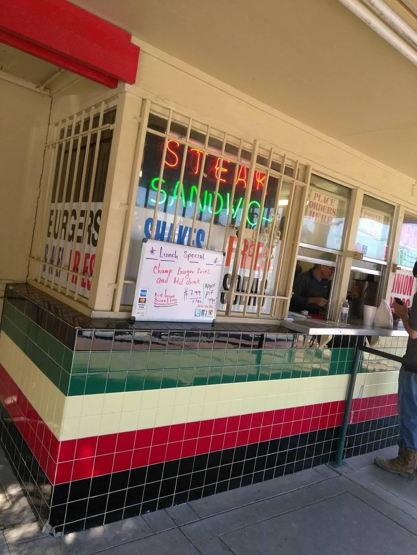 Champ-Burger | meal takeaway | 304 Sampson St, Houston, TX 77003, USA | 7132277737 OR +1 713-227-7737