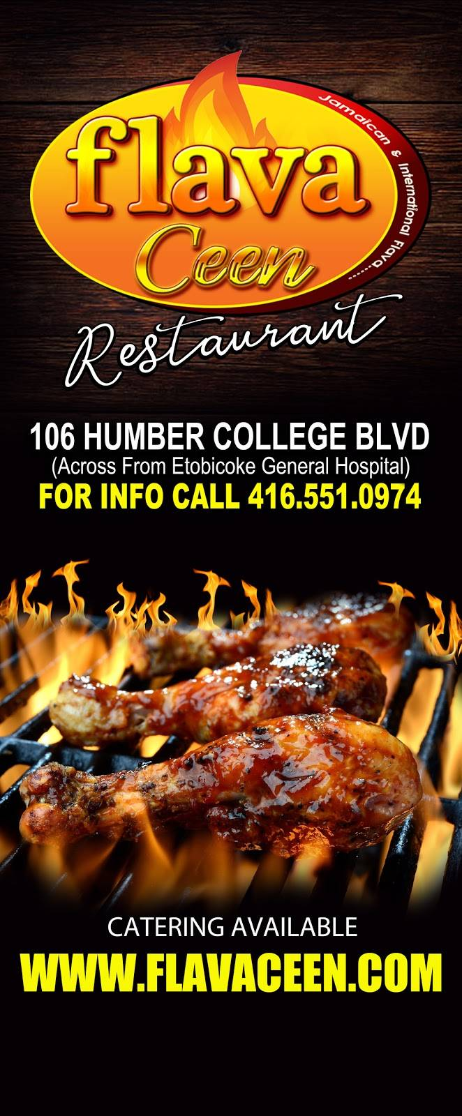 Flava Ceen | restaurant | 106 Humber College Blvd, Etobicoke, ON M9V 4E4, Canada | 4165510974 OR +1 416-551-0974