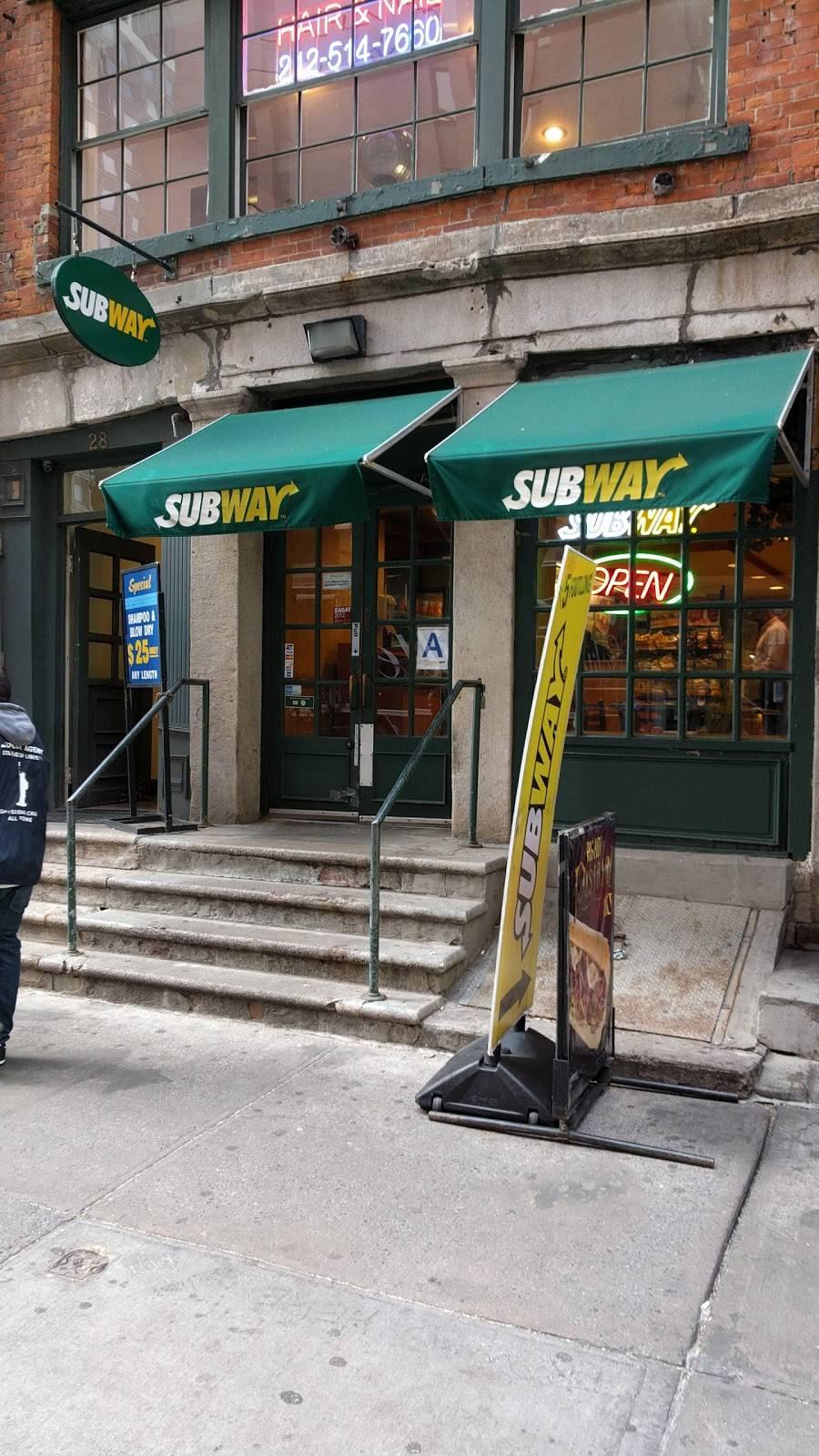 Subway Restaurants | restaurant | 28 Water St, New York, NY 10004, USA | 2122693460 OR +1 212-269-3460
