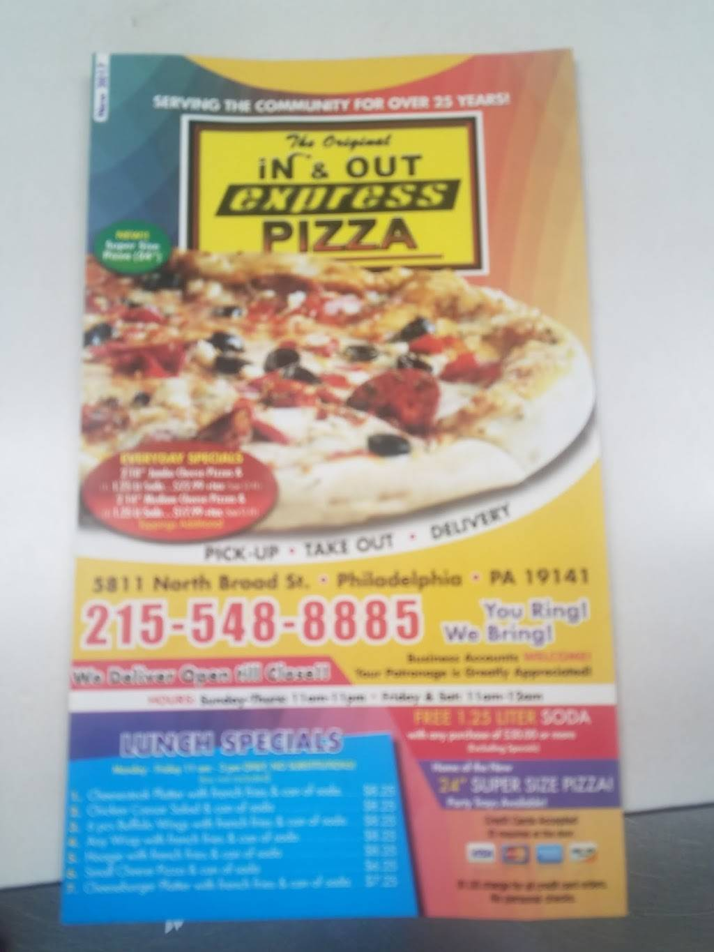 in and out pizza
