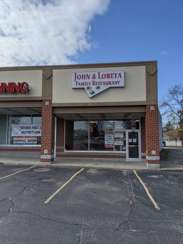 John and Loreta Family Restaurant | restaurant | 6030 Broadview Rd, Parma, OH 44134, USA | 4408570571 OR +1 440-857-0571