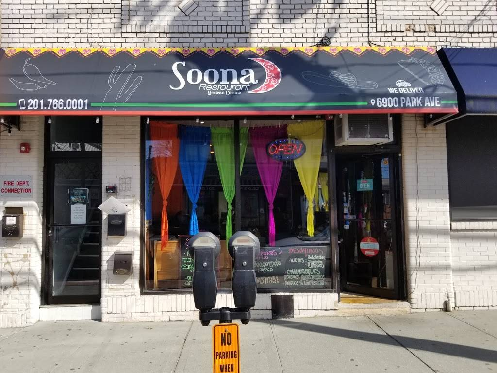 Soona' Mexican Cuisine | restaurant | 6900 Park Ave, Guttenberg, NJ 07093, USA | 2017660001 OR +1 201-766-0001
