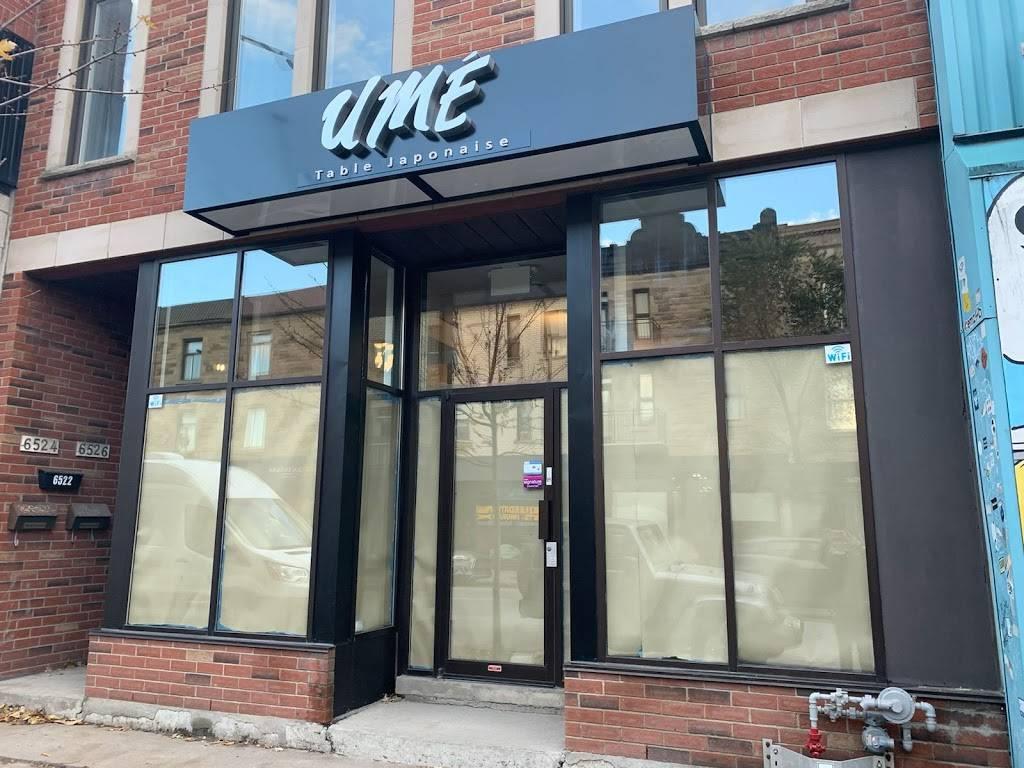 UMÉ Table Japonaise | restaurant | 6522 Boul St-Laurent, Montréal, QC H2S 3C6, Canada | 5142770606 OR +1 514-277-0606