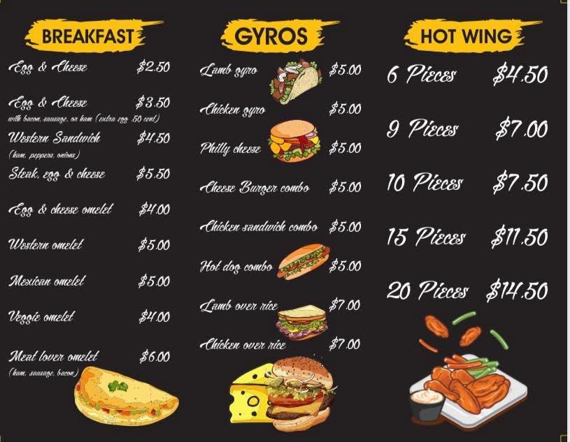Nyc Express Gyros   bakery   15 Bunker Hill Ave, Waterbury, CT 06708, USA