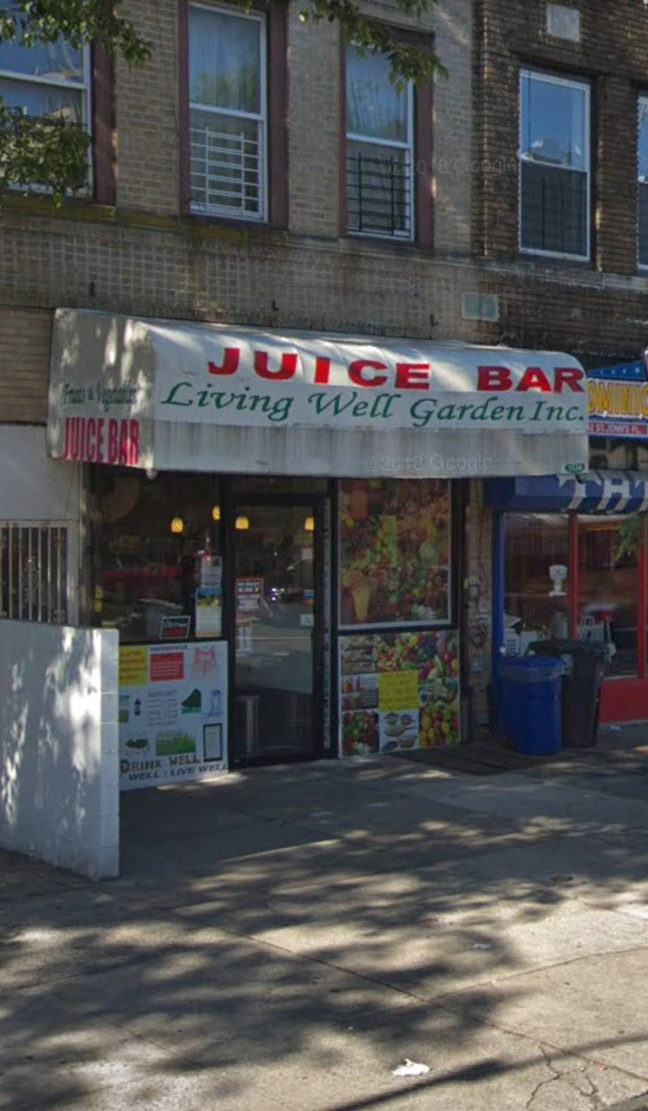 Living Well Garden Juice Bar | restaurant | 1534 St Johns Pl, Brooklyn, NY 11213, USA | 7184840860 OR +1 718-484-0860