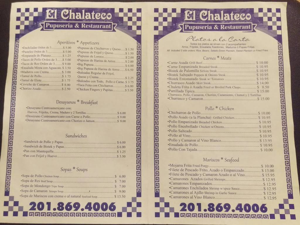 El Chalateco | restaurant | 6711 Bergenline Ave, West New York, NJ 07093, USA | 2018694006 OR +1 201-869-4006