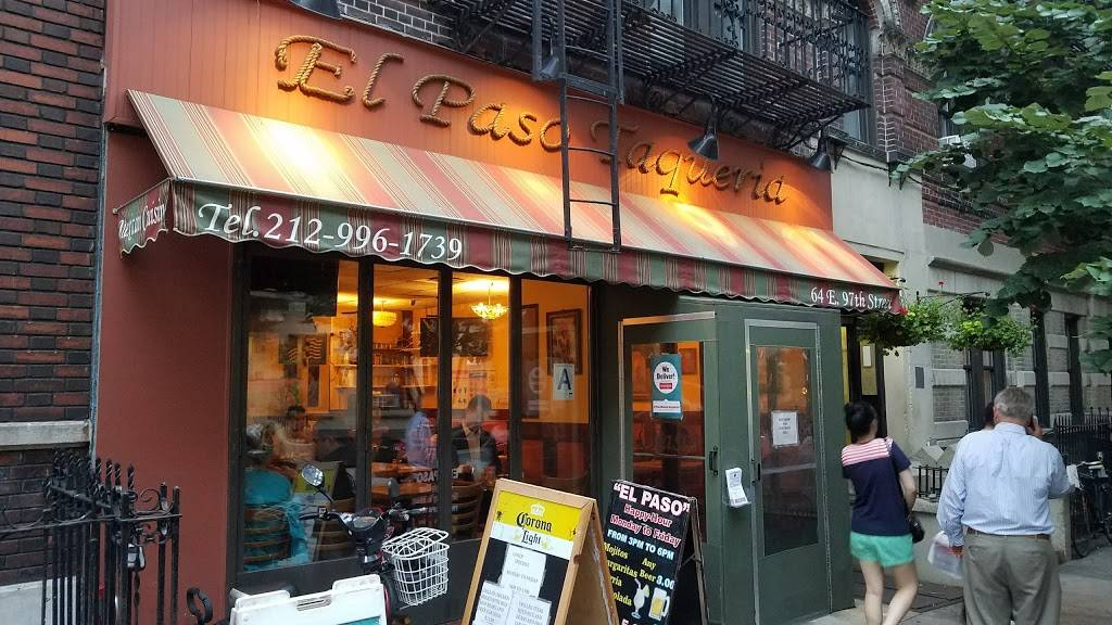 El Paso Taqueria | restaurant | 64 E 97th St, New York, NY 10029, USA | 2129961739 OR +1 212-996-1739