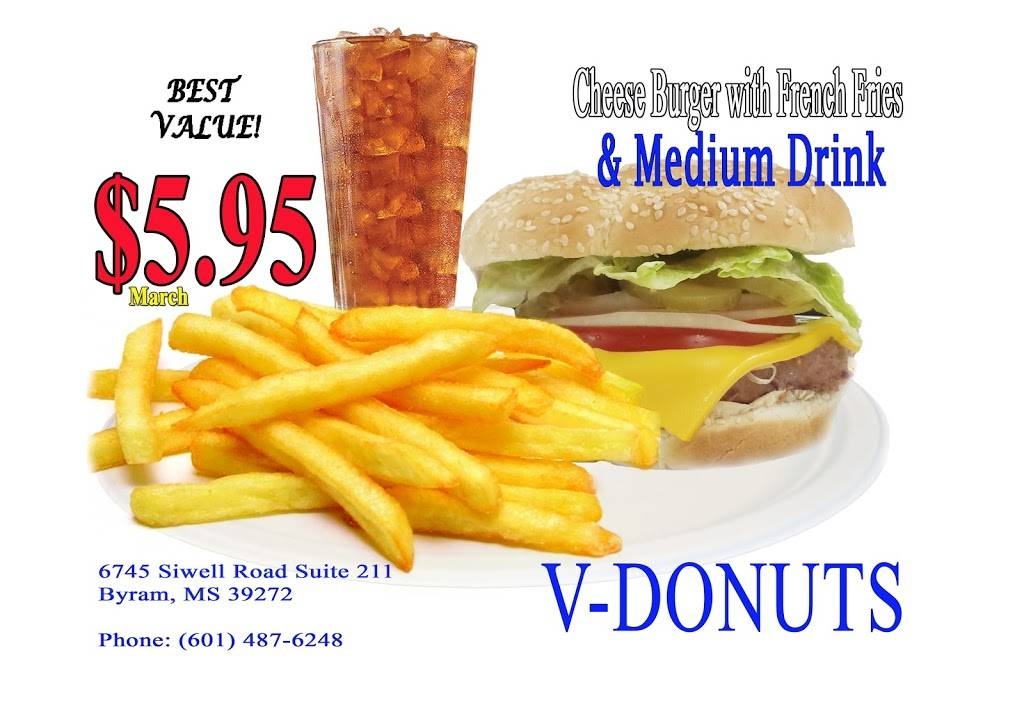 V-DONUTS | restaurant | 6745 Siwell Rd #211, Byram, MS 39272, USA | 6014876246 OR +1 601-487-6246