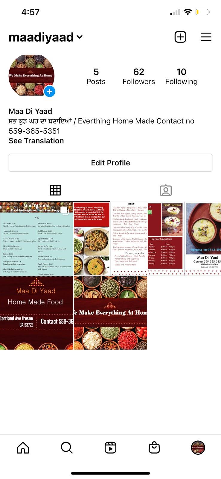 Maa Di Yaad   restaurant   4093 W Cortland Ave, Fresno, CA 93722, USA   5593655351 OR +1 559-365-5351