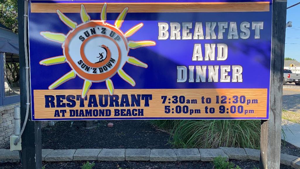 Sun'z Up Sun'z Down   restaurant   9510 Pacific Ave, Wildwood Crest, NJ 08260, USA   6098544500 OR +1 609-854-4500