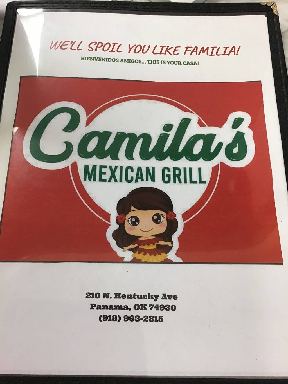 Camila's Mexican Grill | restaurant | 210 N Kentucky Ave, Panama, OK 74951, USA | 9189632815 OR +1 918-963-2815