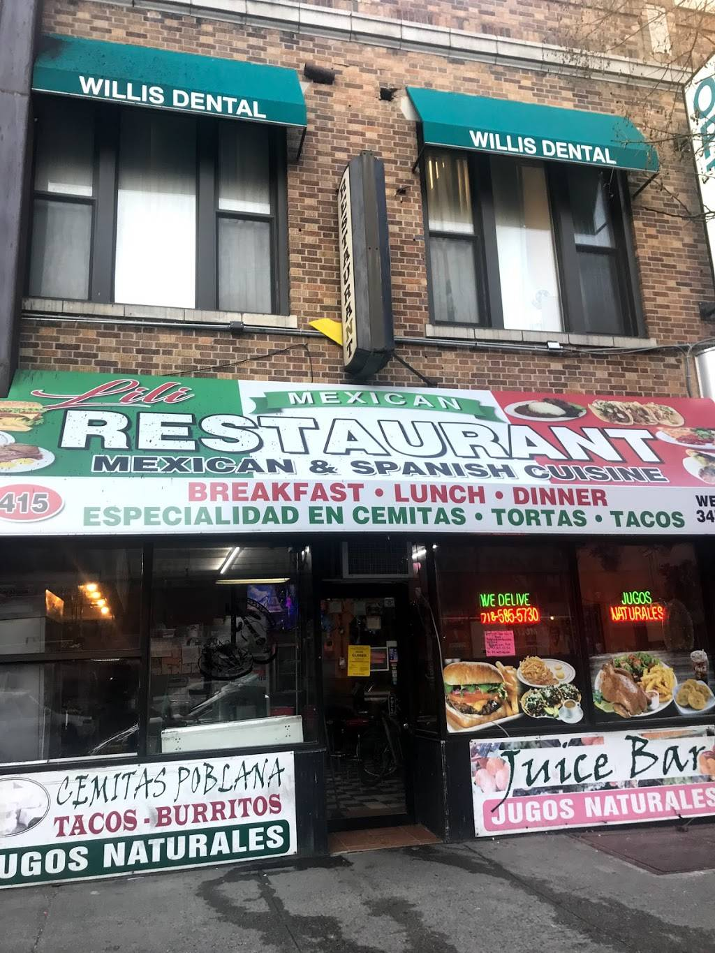 Lili | restaurant | 415 E 138th St, Bronx, NY 10454, USA | 3472978550 OR +1 347-297-8550