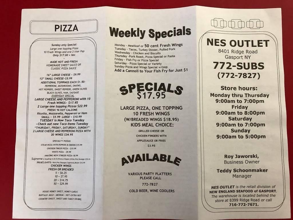 New England Seafood | restaurant | 8401 Ridge Rd, Gasport, NY 14067, USA | 7167727827 OR +1 716-772-7827